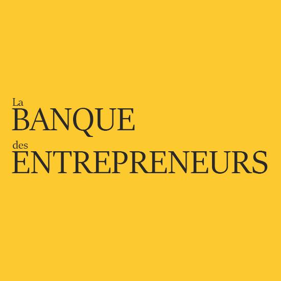 Logo - Banque des Entrepreneurs - Texte complet - Fond Jaune - bordure